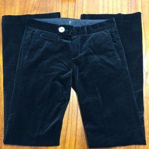 7 for All Mankind black velvet flare leg pants